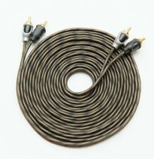5M RCA CABLE TWISTED WIRE PURE OFC 5 METRES 16.5 FEET PHONO LEADS