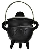 Small TRIPLE MOON Pot Belly Lidded Cauldron!
