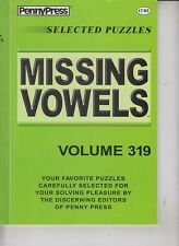 PennyPress Selected Puzzles 2016 Missing Vowels Volume 319