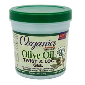 Organics Africa's Best Olive Oil Twist and Loc Gel for Superior Hold 15oz
