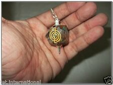 Exquisite New Chokurei Engraved Orgone Pendulum Hexagon Octagon Energy Healing