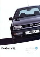 1 VW Golf VR6 Prospekt NL 1991 9/91 dutch brochure prospectus catalogue broszura