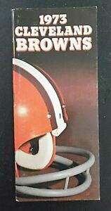 Vintage NFL 1973 Cleveland Browns Football Media Guide