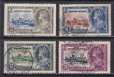 British Guiana SG 301-304 Sc 223-226 VF Used 1935 KGV Silver Jubilee Set SCV £30