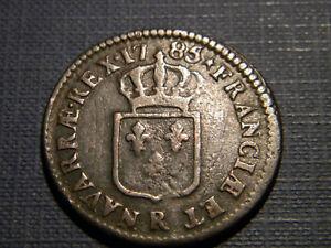 LOUIS XVI. 1 SOL A L'ECU DE FRANCE. 1785.R. ORLEANS.