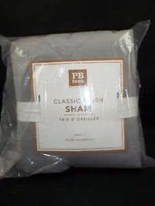 Pottery Barn Teen Classic Plush Quilted Sham Grey Euro #29