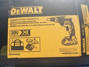 DeWalt DCF620M2 Brushless Drywall Screwgun Kit Charger 2 batteries New