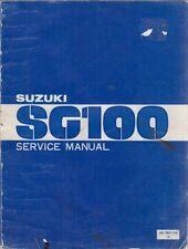 SUZUKI SC100 CX  SC100 CX-G  SC100 SX  SC100 SX ORIGINAL FACTORY WORKSHOP MANUAL
