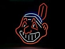 """New Cleveland Indians Logo Neon Sign 17""""x14"""""""
