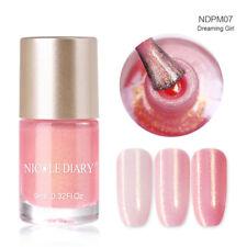 9ml NICOLE DIARY Nail Polish Water Based Pearl Pink Nail Art Varnish Polish M07