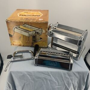 MARCATO Atlas Mod 150 Pasta Noodle Maker Machine Vintage with Box Made in Italy