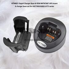 Rapid Charger Base Set For Motorola Apx7000 Apx6000 & Xts Series Walkie Talkie