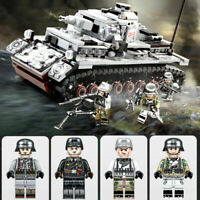 WW2 German IV Panzer Tank Military Building Blocks Figures Bricks Army Soldier