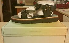 H by Hudson Calypso womens black leather sandals size 9/40 NIB $109