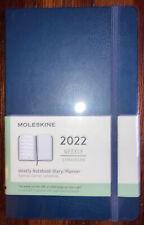 Moleskine 2022 Weekly Notebook Diaryplanner Sapphire Blue