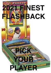 2021 Finest Flashbacks BASE & ROOKIE CARDS #1-200 YOU Pick COMPLETE YOUR SET