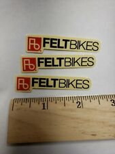 Felt Bikes small 4 pack blk//red//clear Sticker Decal