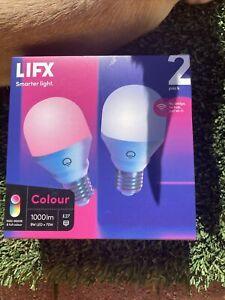 2pack  LIFX RGB Colour Smart Light 9W 1000lm Alexa Google Apple Kit Bulb A60 E27