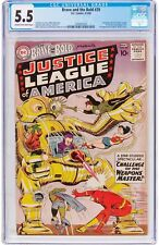 Brave and the Bold #29 CGC 5.5 DC 1960 2nd Justice League! JLA! G11 121 1 28 cm