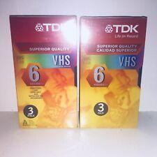 TDK 120 min VHS Video Cassette (6-Pack)