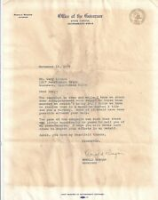 Ronald Reagan Letter President Governor Actor Reaganomics Army Air Forces