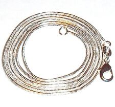 """CN423e Snake Chain Lobster Clasp .925 Sterling Silver-Plate Chain Necklace 28"""""""