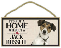 Wood Sign: It's Not A Home Without A JACK RUSSELL (TERRIER) | Dogs, Gifts