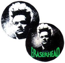 2 ERASERHEAD  BADGES. Cult film, David Lynch.
