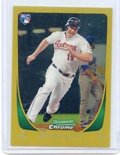 2011 BOWMAN CHROME #189 BRIAN BOGUSEVIC #9/50 GOLD REFRACTOR  ROOKIE RC - ASTROS