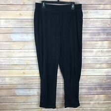 Faded Glory Womens 16W 1X Straight Leg Pull On Pants Velour Stretch Knit Comfort