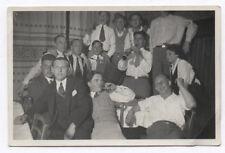 PHOTO ANCIENNE Musicien Musique Accordéon Groupe Clarinette Drôle 1932 Fête