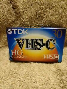 TDK New Sealed VHS-C HG Ultimate 30 Minute Camcorder TAPE
