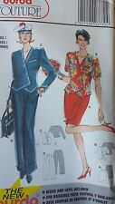 Vintage Burda Couture Pattern 3770 Womens Fashion Clothing A-8-18 Cut and Uncut