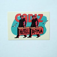 "Retro Hotel Cadiz Roma Rome Italy vintage Luggage Label 3""x2.5"" Decal Sticker"