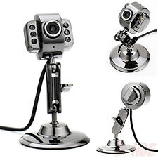 Metal USB Webcam 6 LED Night Vision Camera w/ Microphone for Laptop PC