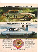 ORIGINAL VINTAGE 1973 LJ HOLDEN TORANA GTR AUSTRALIAN COLOR ADVERT