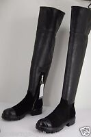 Collection Privee LEATHER STRETCH BLACK OVER THE KNEE BOOTS EU 41 US 10