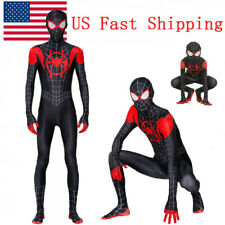 Us Spider-Man Miles Morales Jumpsuits Kids Adults Spandex Cosplay Bodysuits Gift