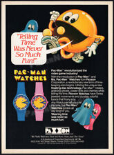 PAC-MAN_/_MS. PAC-MAN WATCHES__Original 1983 print AD / promo__PAXXON__Watch ad