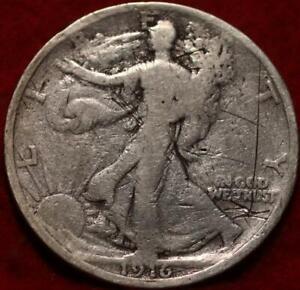 1916-S San Francisco Mint Silver Walking Liberty Half Obverse
