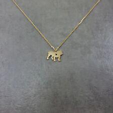Bulldog Gold Plated Necklace Gift Box English American Canine Pet Breed Mastiff