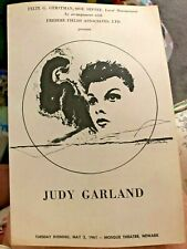 Vintage Judy Garland 1961 Mosque Theatre Insert Program