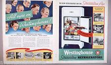 Westinghouse Refrigerator Centerfold PRINT AD - 1935