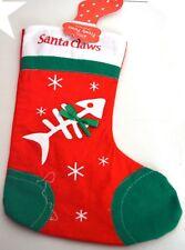 NUOVO SANTA CLAWS GATTO Natale calza calzino sacco