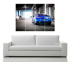 NISSAN GTR R35 AUTO POSTER GIAPPONESE Blu Skyline WALL ART PICTURE PRINT