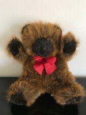 Harrods Knightsbridge Christmas Bear 10 inch Foot Dated 1992 Retired