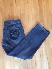 Mens Projek Raw Jeans 38 Gray Denim Black Straight Leg Designer Fashion
