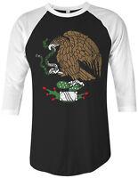 Threadrock Mexican Eagle Unisex Raglan T-shirt Mexico Flag