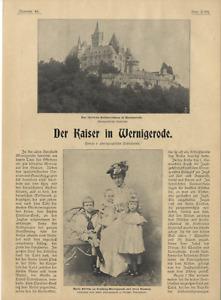Der Kaiser in Wernigerode Fürstin Stolberg Jagdjubiläum d. Fürsten Stolberg 1900