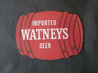 WATNEYS Red Barrel Beer Coaster Bar Mat  London, UK Brewery- Closed in 1979